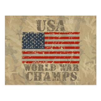 Los E.E.U.U., campeones de la guerra mundial Postal