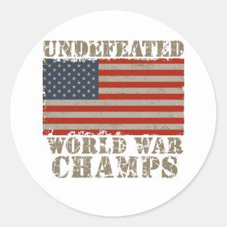 Los E.E.U.U., campeones invictos de la guerra Pegatina Redonda