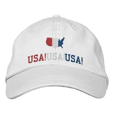 Los E.E.U.U. cantan deportes patrióticos Gorro Bordado