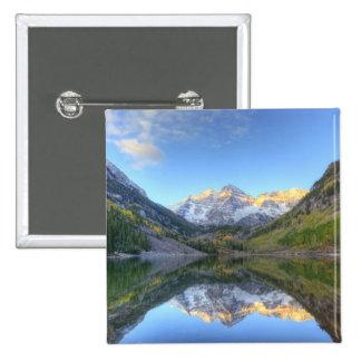 Los E.E.U.U., Colorado, Campanas-Snowmass marrón Pin Cuadrado