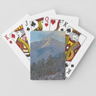 Los E.E.U.U., Colorado, montañas en el parque de Naipes
