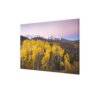 Los E.E.U.U., Colorado, montañas rocosas.  Amanece Impresion De Lienzo