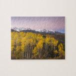 Los E.E.U.U., Colorado, montañas rocosas.  Amanece Puzzle