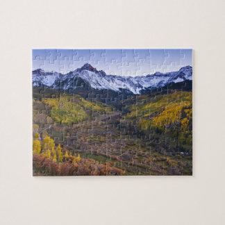 Los E.E.U.U., Colorado, montañas rocosas, San Juan Puzzles