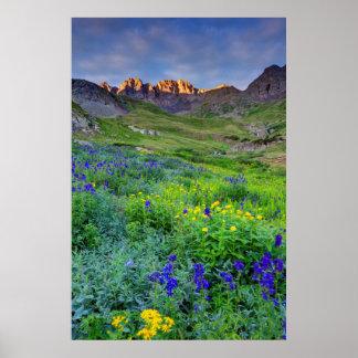 Los E.E.U.U., Colorado. Salida del sol en Póster