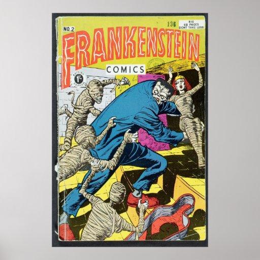 Los E.E.U.U. cómicos - Frankenstein Póster