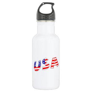 Los E.E.U.U. con el modelo de la bandera americana Botella De Agua De Acero Inoxidable