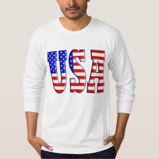 Los E.E.U.U. con la BANDERA AMERICANA Playera