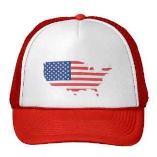 Los E.E.U.U. con la bandera - gorra del camionero