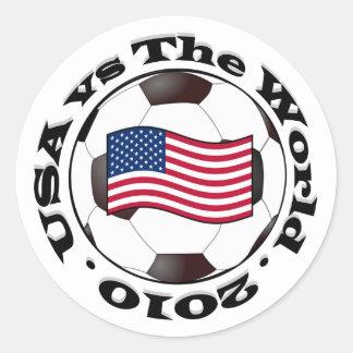 Los E.E.U.U. contra el mundo 2010 Pegatinas Redondas