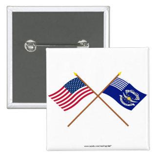 Los E.E.U.U. cruzados y 2das banderas de los Drago Pins