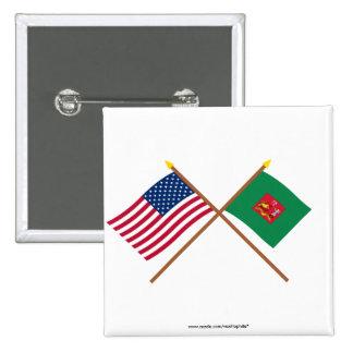 Los E.E.U.U. cruzados y primeras banderas del regi Pins