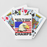 LOS E.E.U.U.:  De nuevo a campeones traseros de la Barajas De Cartas