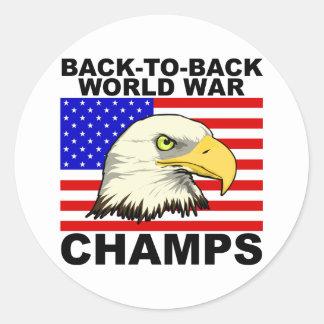 LOS E.E.U.U.:  De nuevo a campeones traseros de la Pegatina Redonda