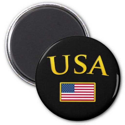 Los E.E.U.U. de oro Imán Redondo 5 Cm