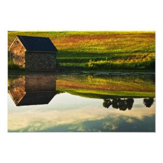 Los E.E.U.U., Delaware, Wilmington. Granero de pie Arte Fotografico