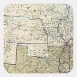 Los E.E.U.U. diciembre de 1864 Pegatina Cuadrada