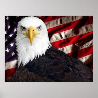 Los E.E.U.U. Eagle patriótico Posters