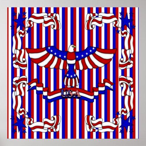Los E.E.U.U. Eagle Poster