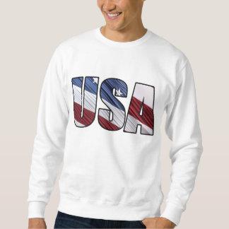 Los E.E.U.U. en bandera patriótica americana Pulóver Sudadera