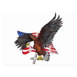Los E.E.U.U. en dios confiamos en Eagle Tarjeta Postal