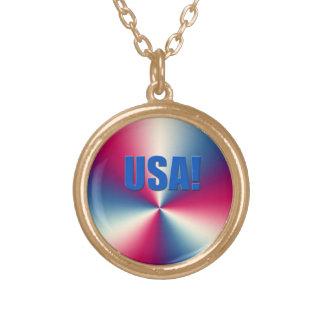 ¡LOS E.E.U.U.! en el collar abstracto del rojo, bl