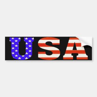 Los E.E.U.U. en pegatina para el parachoques negra Pegatina Para Auto