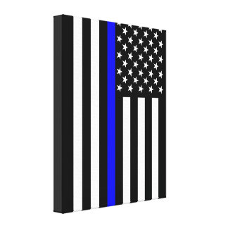 Los E.E.U.U. enrarecen Blue Line Impresión En Lienzo