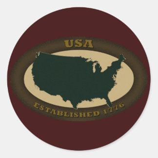 Los E.E.U.U. Est. 1776 Pegatinas Redondas