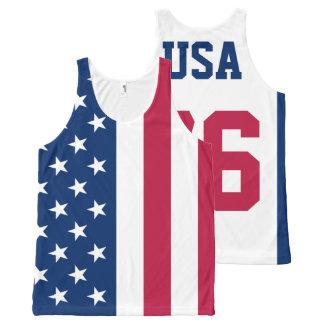 Los E.E.U.U. Est. Bandera americana 1776 Camiseta De Tirantes Con Estampado Integral