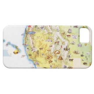 Los E E U U Estados Occidentales de América map iPhone 5 Carcasas