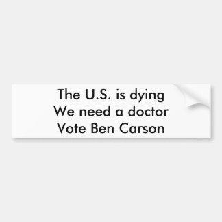 Los E.E.U.U. están muriendo Pegatina Para Auto