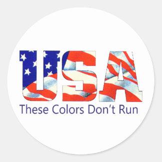 LOS E.E.U.U. - Estos colores no corren Pegatina Redonda