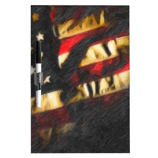 los E.E.U.U. flag2 Pizarras Blancas De Calidad