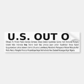 LOS E.E.U.U. FUERA DE… 2 de 3 en una serie LA COMP Pegatina Para Auto