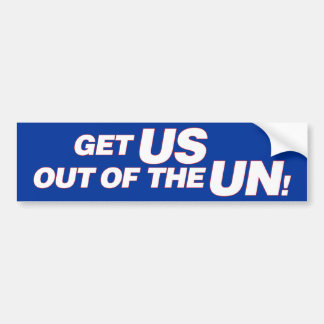 Los E.E.U.U. fuera de la O.N.U Pegatina Para Auto