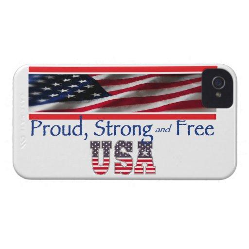 Los E.E.U.U. fuertes iPhone 4 Protectores