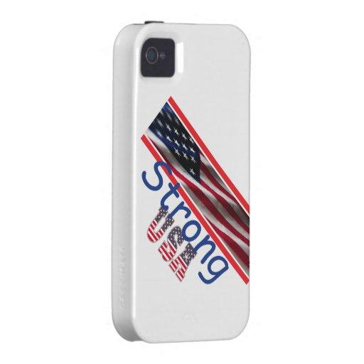 Los E.E.U.U. fuertes Vibe iPhone 4 Funda