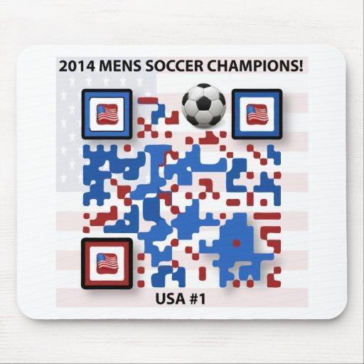 LOS E.E.U.U. --Fútbol-QR-Código Alfombrillas De Ratones
