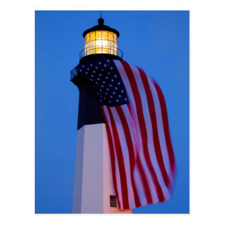 Los E.E.U.U., Georgia, isla de Tybee, bandera que Tarjetas Postales