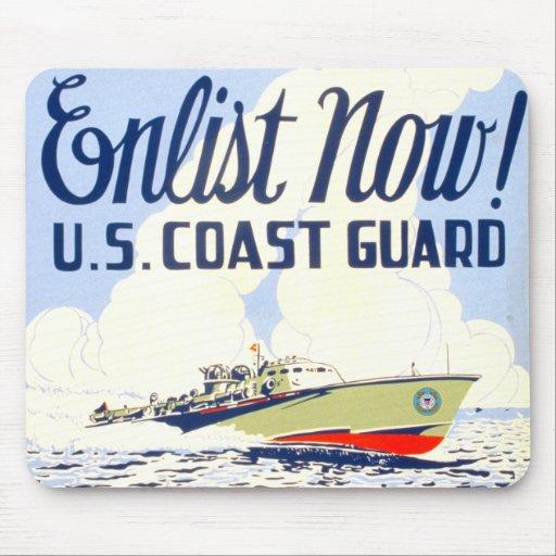 Los E.E.U.U. ¡Guardacostas - ahora aliste! Alfombrilla De Ratón