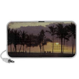 Los E.E.U.U., Hawaii, isla grande, par, palmeras Notebook Altavoces