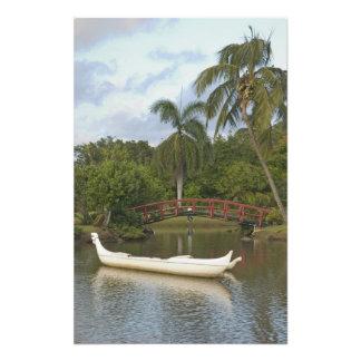 Los E.E.U.U., Hawaii, Kauai, jardín de Luau de la  Cojinete