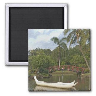 Los E.E.U.U., Hawaii, Kauai, jardín de Luau de la  Imán Cuadrado