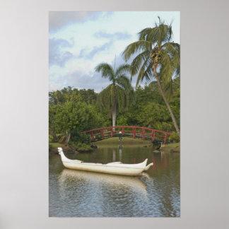 Los E.E.U.U., Hawaii, Kauai, jardín de Luau de la  Póster