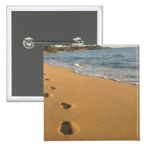 Los E.E.U.U., Hawaii, Kauai, Kapa'a, frente al mar Pin Cuadrada 5 Cm