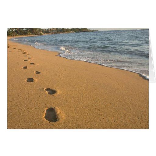Los E.E.U.U., Hawaii, Kauai, Kapa'a, frente al mar Felicitacion