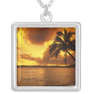Los E.E.U.U., Hawaii, Kauai, salida del sol Colgante Cuadrado