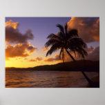 Los E.E.U.U., Hawaii, Kauai, salida del sol colori Poster