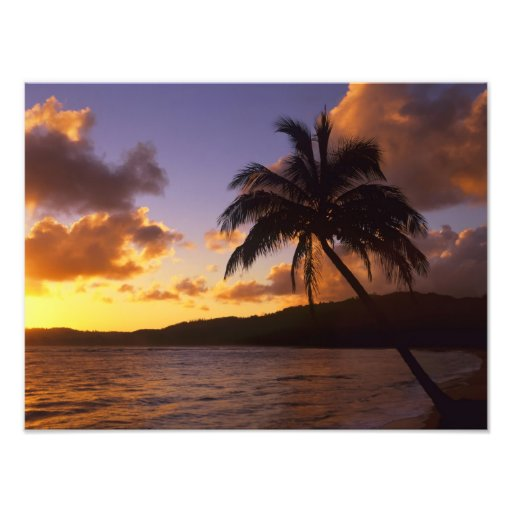 Los E.E.U.U., Hawaii, Kauai, salida del sol colori Impresión Fotográfica